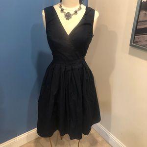 Eshakti black v-neck sleeveless fit & flare dress